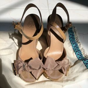 Tory Burch bow wedges
